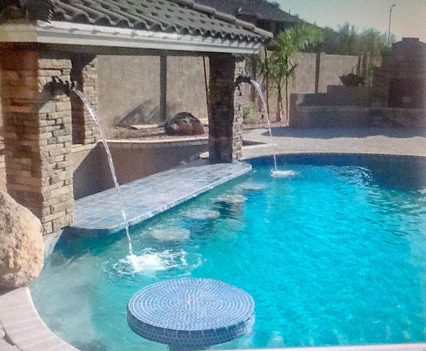 Phoenix pool design company mirage landscaping llc for Pool design company polen